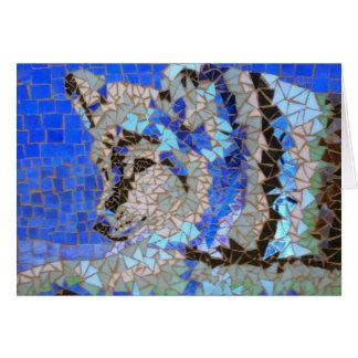 Mosaico do lobo cartão comemorativo