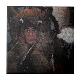 Mosaico do nativo americano do homem e da