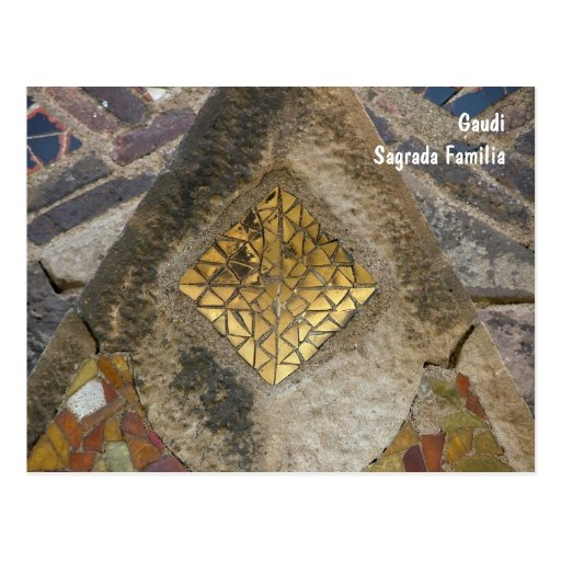 Mosaico do Sagrada Familia Cartoes Postais