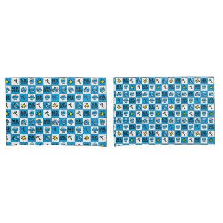 Mosaico do Sr. Colisão | no teste padrão azul