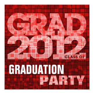 Mosaico do vermelho do convite 2012 da festa de