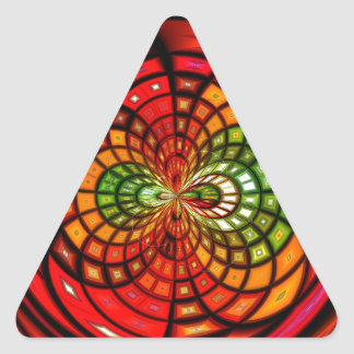 Mosaico do vitral adesivo em forma de triângulo