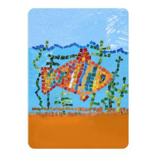 Mosaico dos peixes do ouro convites