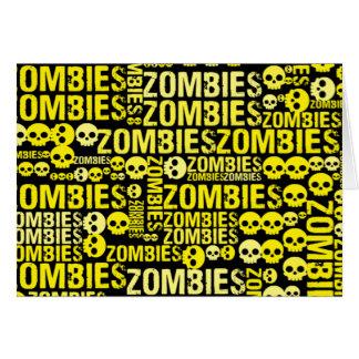 Mosaico dos zombis cartão comemorativo
