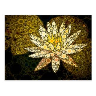 Mosaico dourado de Lotus Cartões Postais