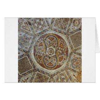 Mosaico faz em Israel do dos Mosaicos de Museu Cartão