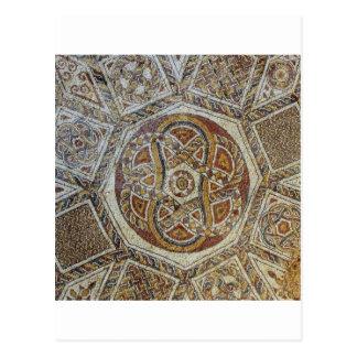 Mosaico faz em Israel do dos Mosaicos de Museu Cartão Postal