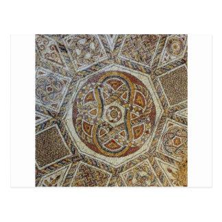 Mosaico faz em Israel do dos Mosaicos de Museu Cartao Postal