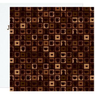 Mosaico Funky do café Convite Quadrado 13.35 X 13.35cm
