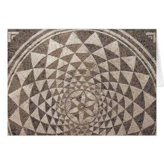 Mosaico geométrico de Zaragoza Salduba Cartão Comemorativo