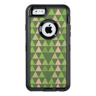 Mosaico geométrico do triângulo verde das