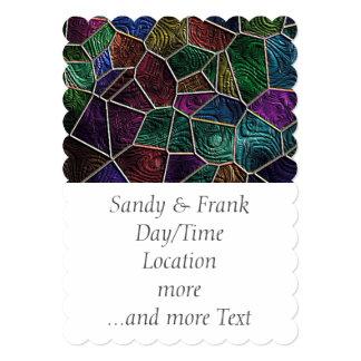 Mosaico Lora, multicolorido Convite 12.7 X 17.78cm