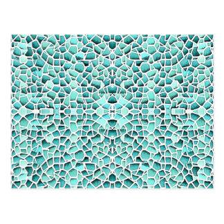 Mosaico louco cartão postal