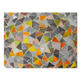 Mosaico na cor cartão postal