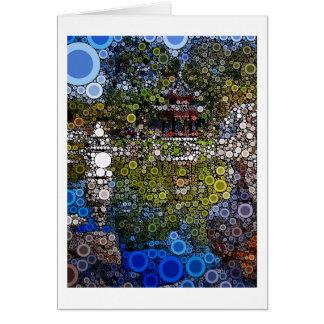 Mosaico Pagoda1 Cartão