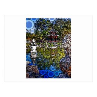 Mosaico Pagoda1 Cartão Postal