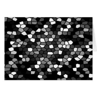 Mosaico preto & branco cartão