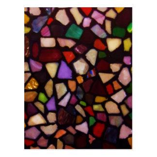 Mosaico preto multicolorido cartão postal