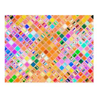 Mosaico recreado cartão postal