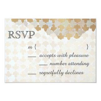 Mosaico romance rústico da folha de ouro do falso convite 8.89 x 12.7cm