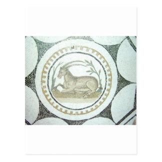 Mosaico romano cartão postal