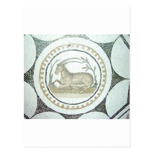 Mosaico romano cartões postais