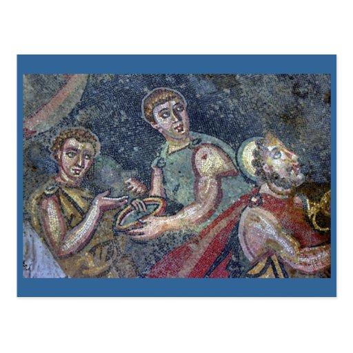 Mosaico romano cartao postal