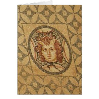 Mosaico romano da casa de campo cartão de nota