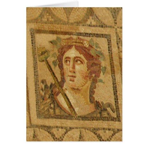 Mosaico romano da casa de campo em Ephesus Cartão