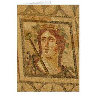 Mosaico romano da casa de campo em Ephesus Cartão De Nota