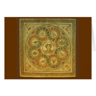 Mosaico romano no vaticano cartão de nota