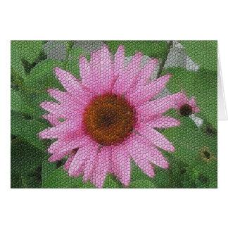 Mosaico roxo do coneflower cartao
