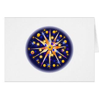 Mosaico Starburst Cartão Comemorativo