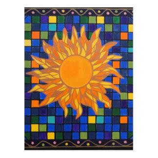 Mosaico Sun Cartão Postal