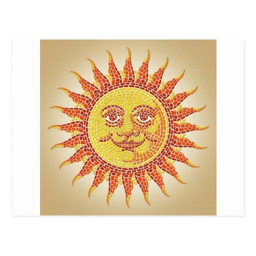 Mosaico Sun Cartao Postal