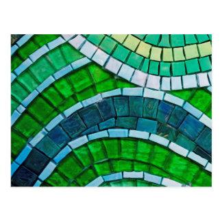 Mosaico verde cartao postal