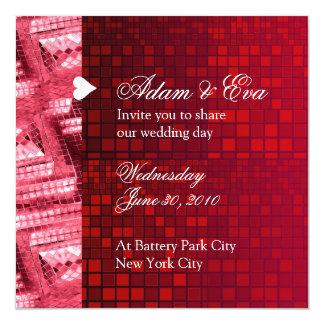 Mosaico vermelho de pedra preciosa do rubi do convites personalizados