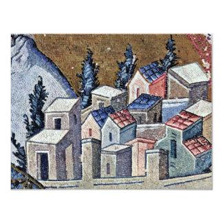 Mosaicos da cena de Kahri-Djami da igreja em Convite 10.79 X 13.97cm