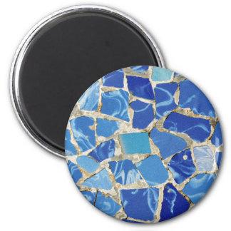 Mosaicos de Gaudi com um toque do óleo Ímã Redondo 5.08cm