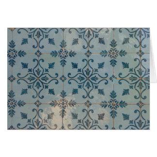 Mosaicos do vintage de Portugal Cartão Comemorativo