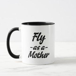 Mosca como uma caneca de café da mãe