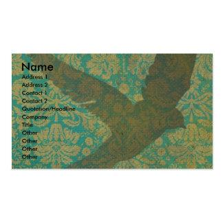 Mosca, pássaro na arte de Digitas do papel de Cartão De Visita