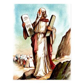Moses com as mesas do cartão da lei