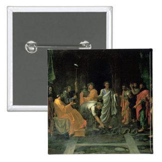 Moses e a serpente de bronze (óleo em canvas) boton