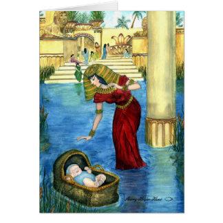 Moses em um cartão da cesta