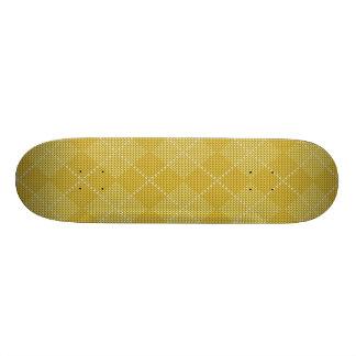 Mostarda Argyle formal retro amarelo Shape De Skate 19,7cm