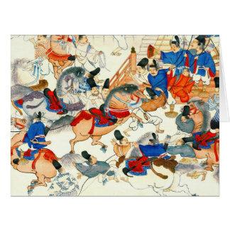 Mostra 1860 do cavalo cartão comemorativo grande