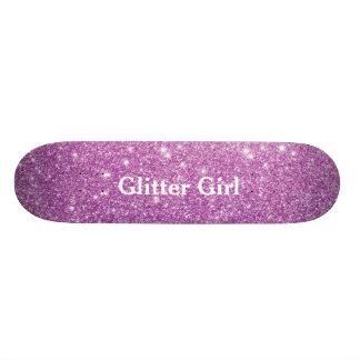 Mostra cor-de-rosa da menina do brilho sua faísca shape de skate 18,1cm