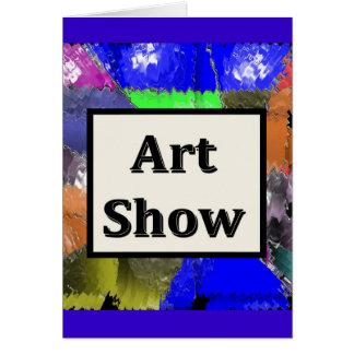 Mostra de arte cartão comemorativo