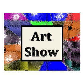 Mostra de arte cartão postal